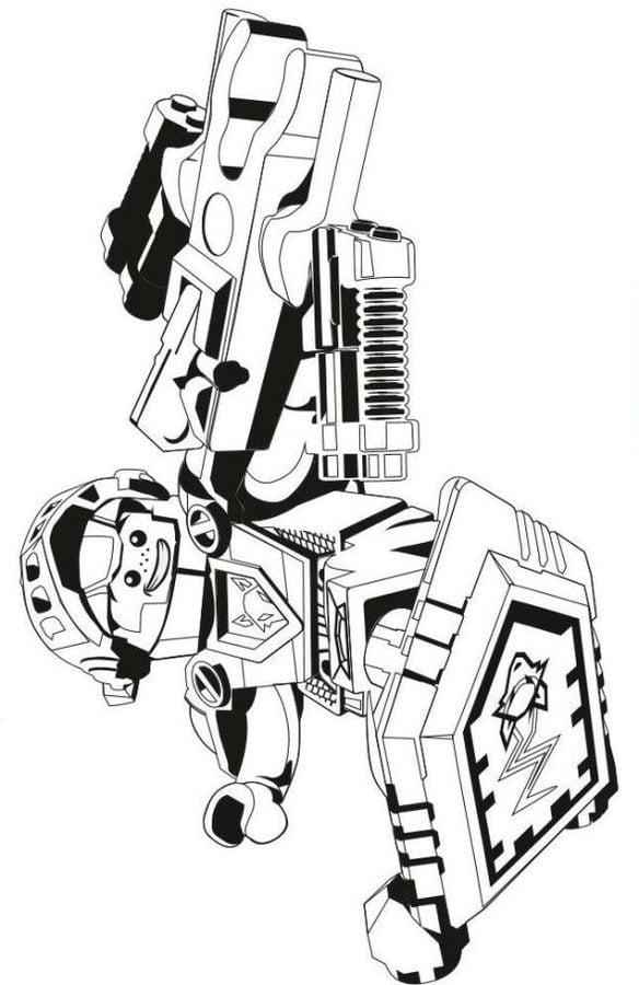 Ausmalbilder Ausmalbilder Lego Nexo Knights Zum Ausdrucken
