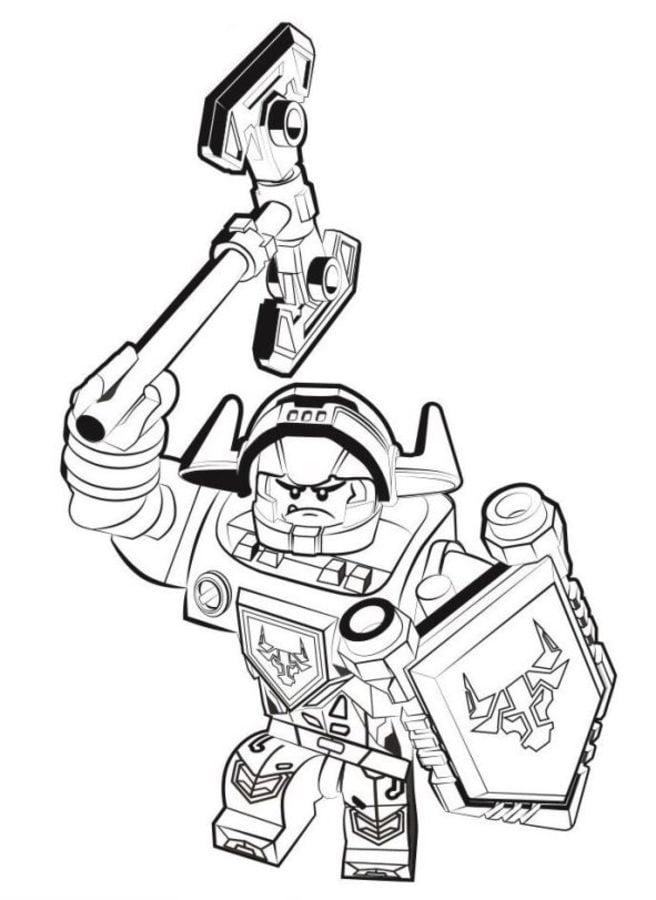ausmalbilder: lego nexo knights zum ausdrucken, kostenlos