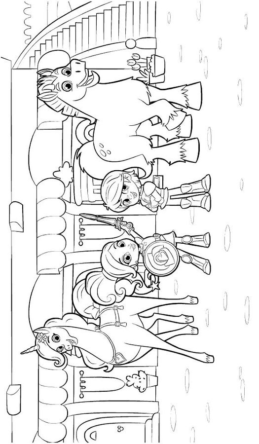 nella the princess knight cartoons coloring pages