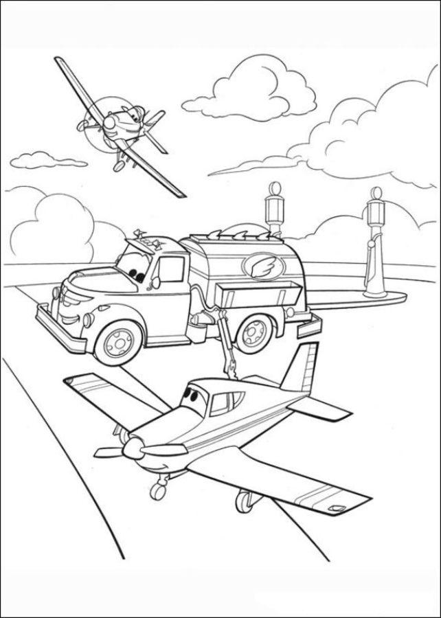ausmalbilder planes zum ausdrucken kostenlos für kinder
