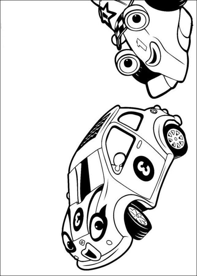Ausmalbilder Roary Der Rennwagen Zum Ausdrucken