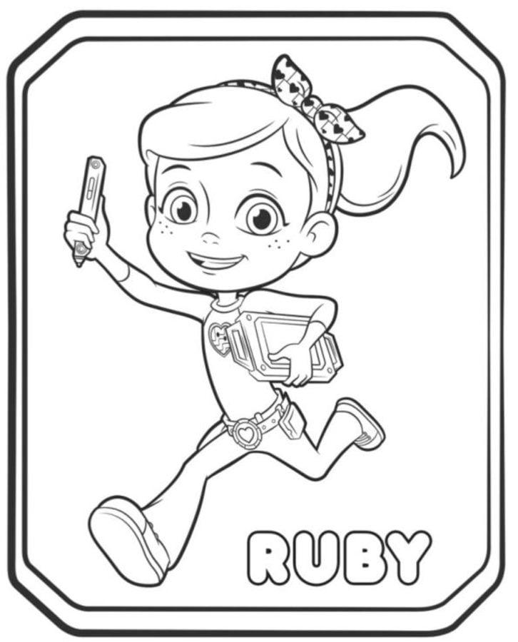 Rusty Rivets Coloring Pages: Dibujos Para Colorear: Rusty Rivets Imprimible, Gratis