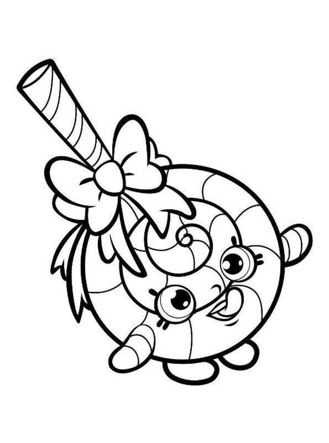 shopkins dibujos animados dibujos para colorear
