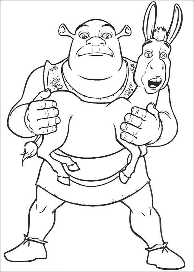 Free Shrek Coloring Book, Download Free Clip Art, Free Clip Art on ... | 900x643