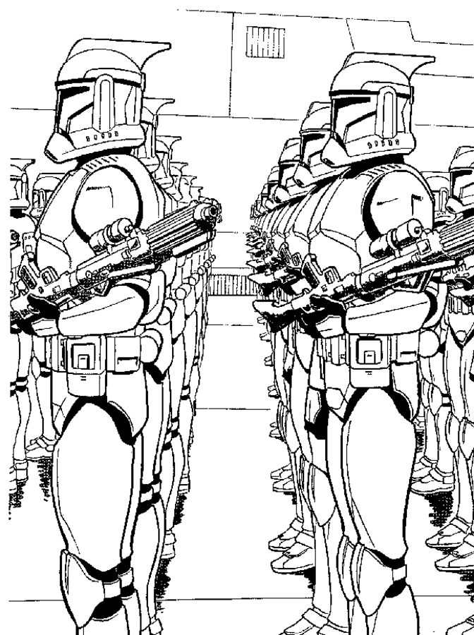 disegni da colorare star wars clone wars