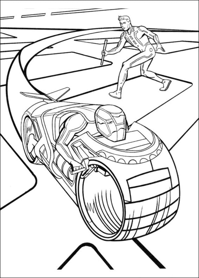 tron coloring pages to print - photo#20