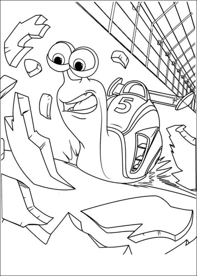 Dibujos para colorear: Turbo imprimible, gratis, para los ...