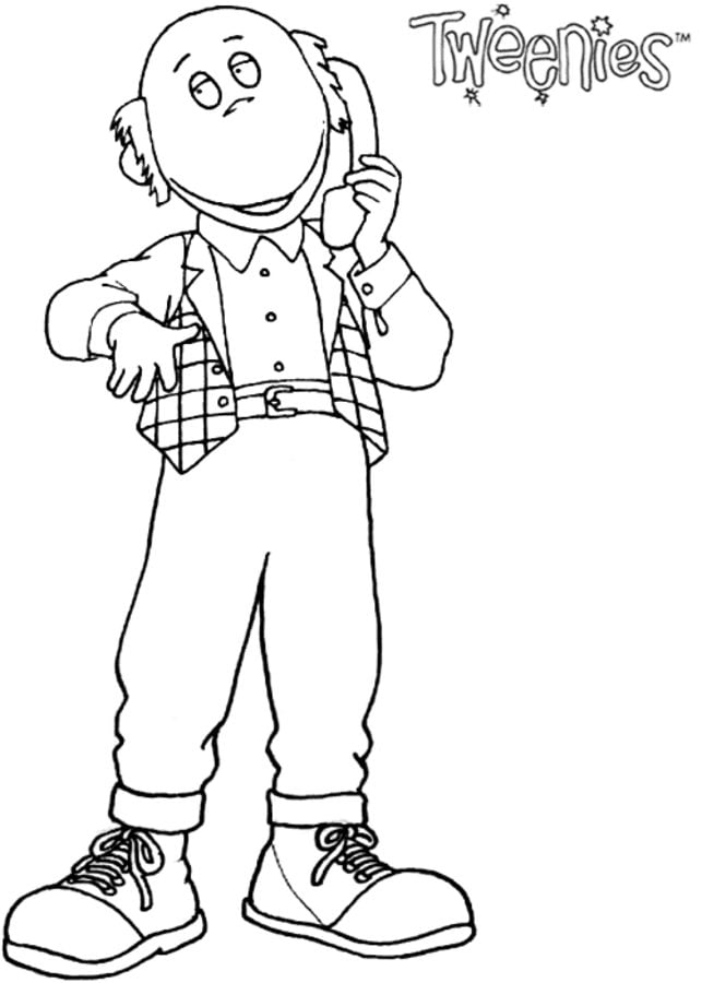 Coloring pages Tweenies printable for kids adults free
