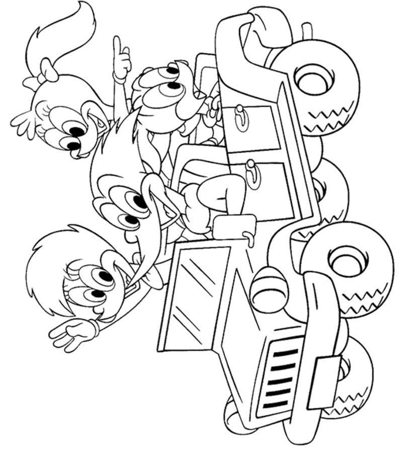 Dibujos para colorear: Pájaro Loco imprimible, gratis, para los ...