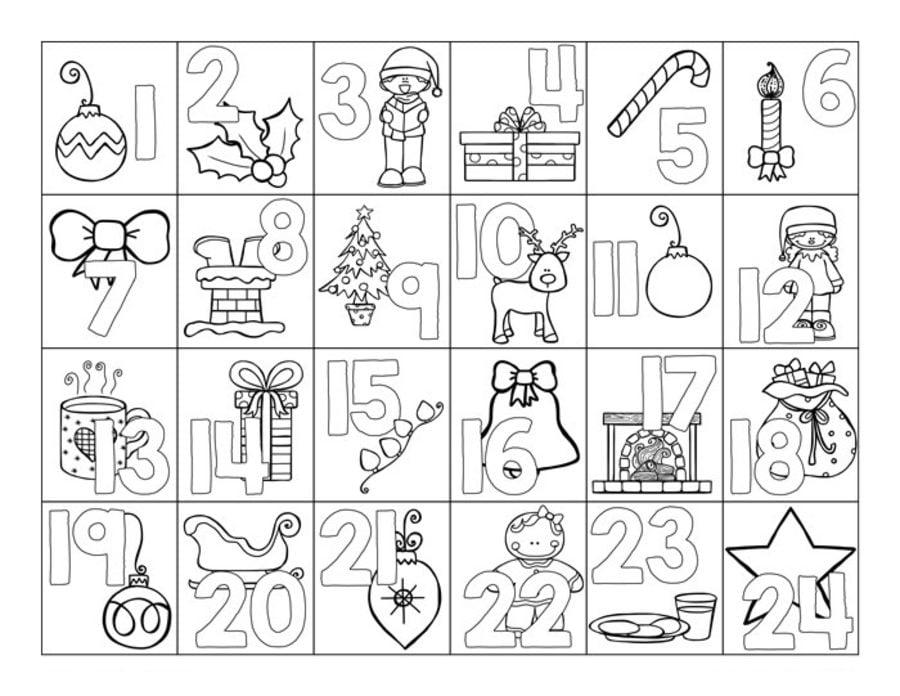 Dibujos para colorear: Adviento imprimible, gratis, para los niños y ...