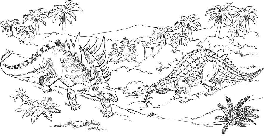 kolorowanki kolorowanki ankylozaur do druku dla dzieci i