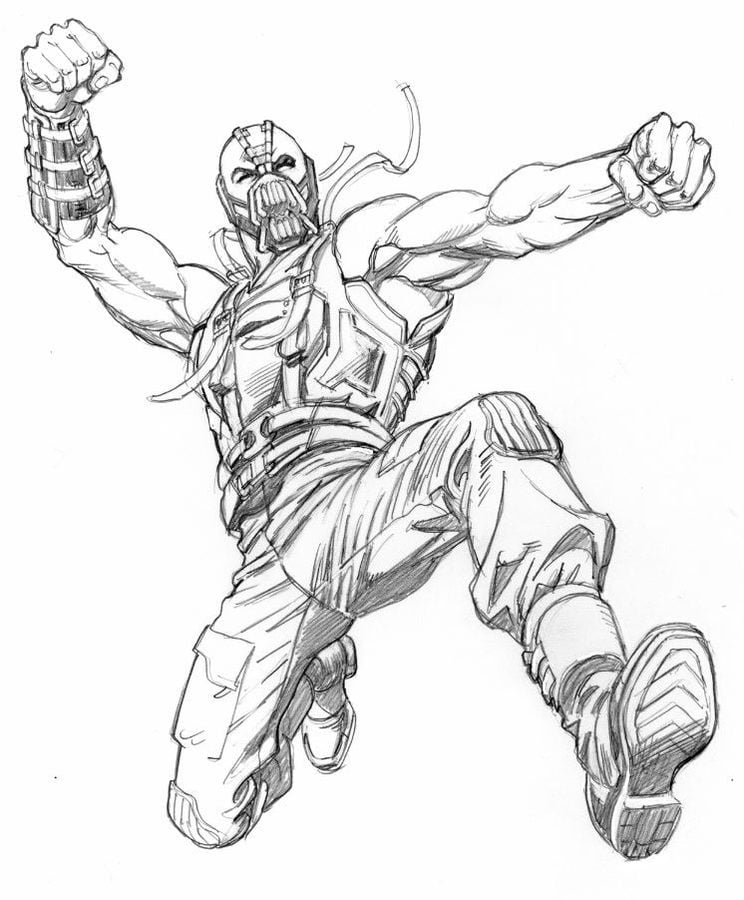 Coloring pages: Bane, printable for kids & adults, free