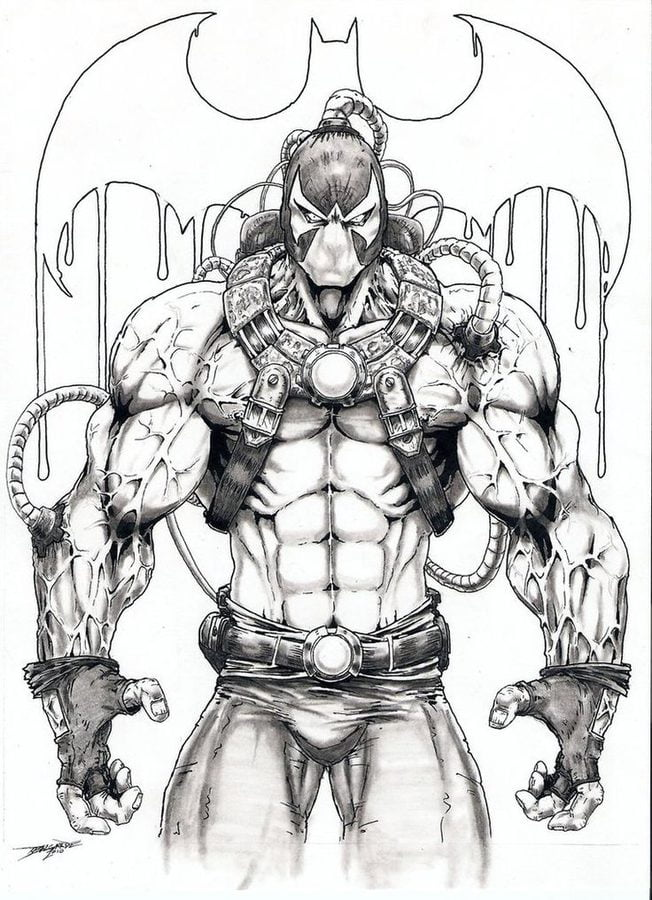 coloring pages bane printable for kids adults free bane batman coloring pages batman vs bane coloring pages