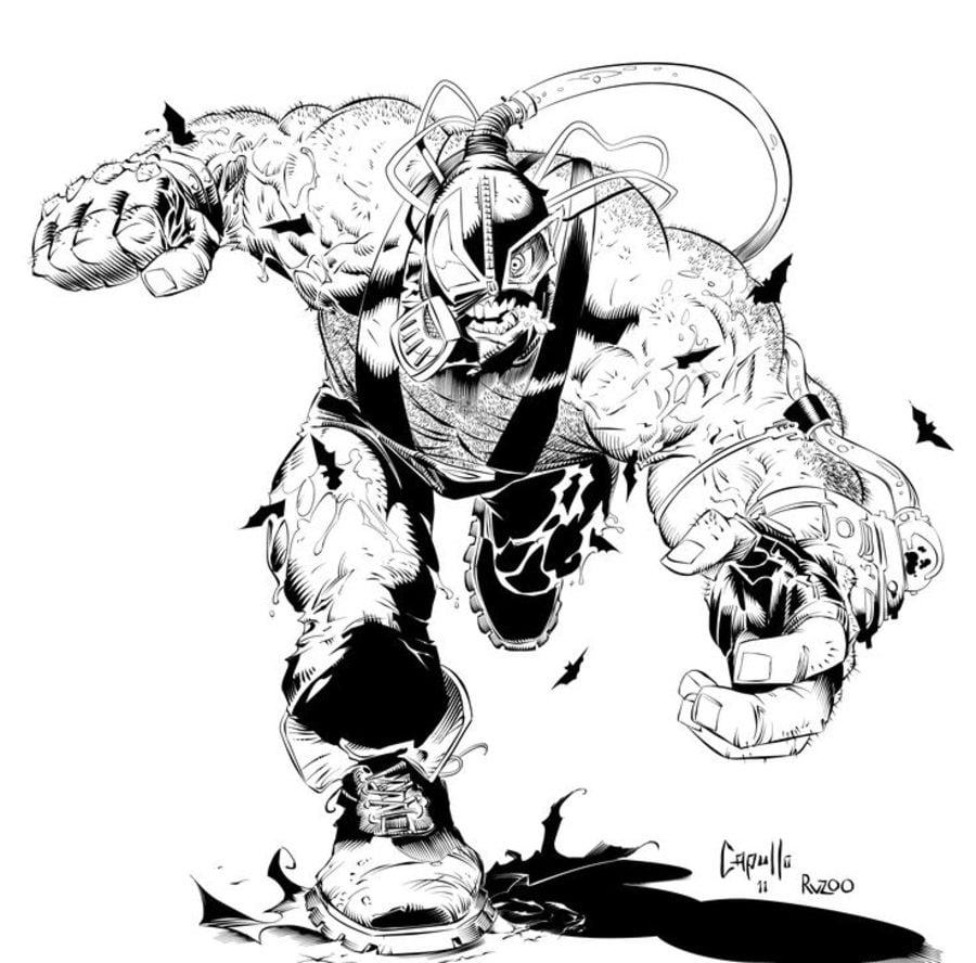 coloring pages bane printable for kids u0026 adults free