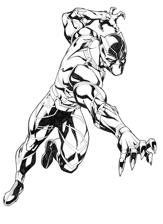 Ausmalbilder Ausmalbilder Black Panther Zum Ausdrucken Kostenlos