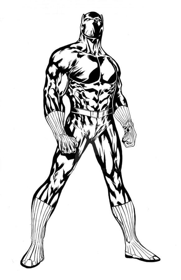 Dibujos Para Colorear Pantera Negra Imprimible Gratis Para Los