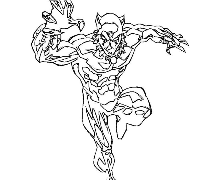 Dibujos para colorear: Pantera Negra imprimible, gratis, para los ...