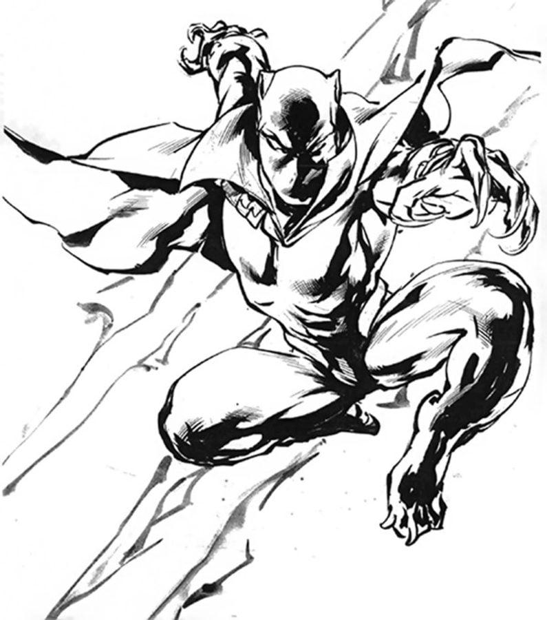 Pantera Negra Dibujos para colorear Historieta Marvel