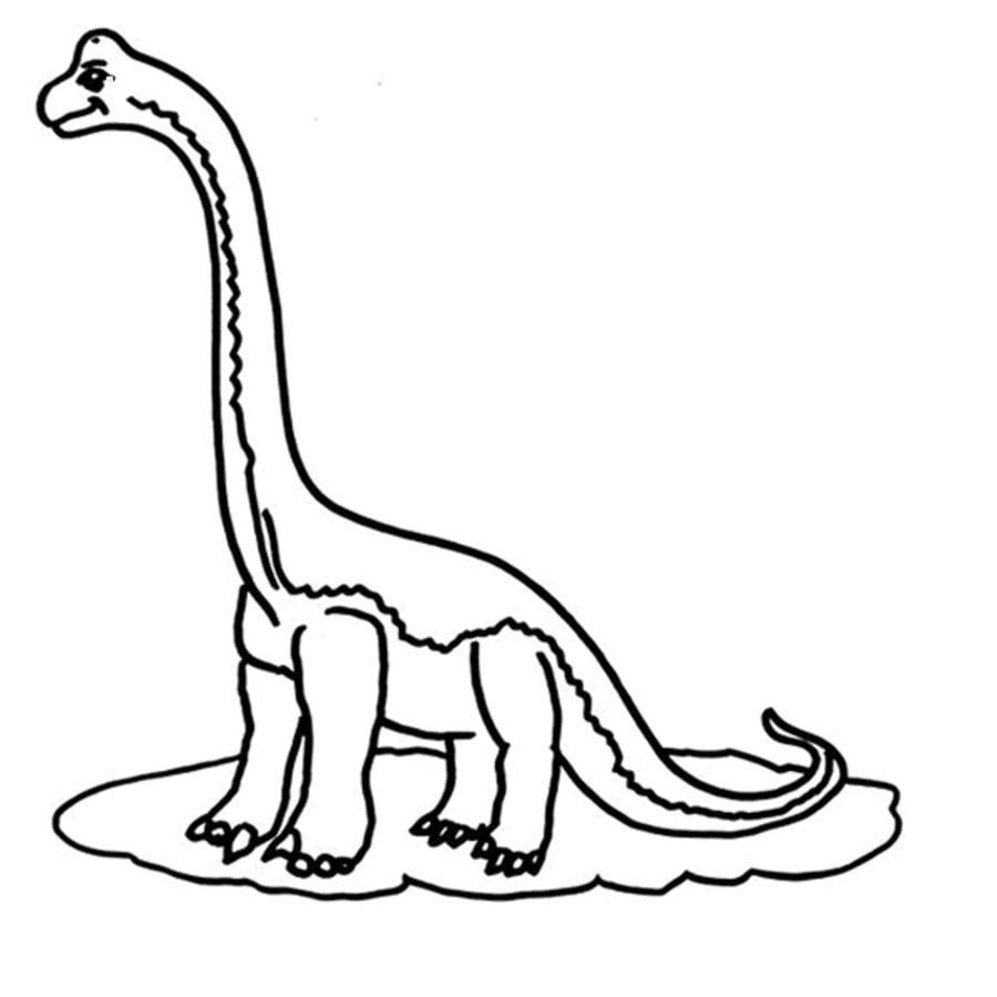 Dibujos para colorear: Brachiosaurus imprimible, gratis, para los ...