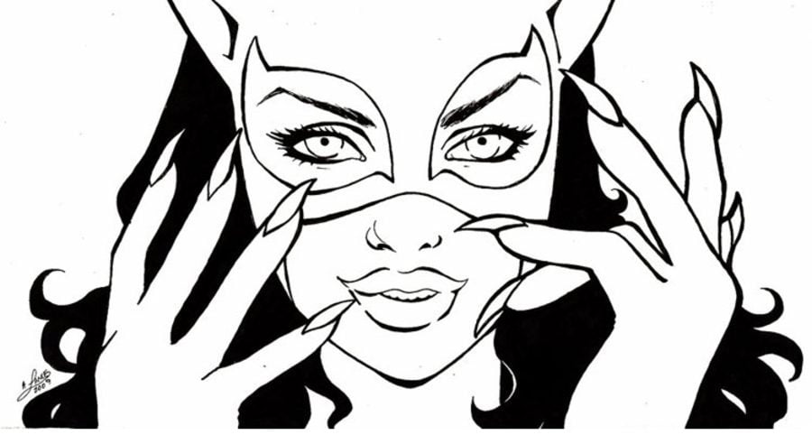 catwoman coloring pages comics dc comics