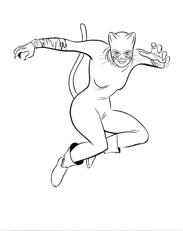 Ausmalbilder: Catwoman zum ausdrucken, kostenlos, für Kinder und ...