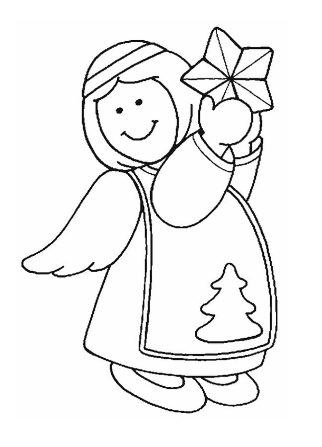 Angel coloring page | Free Printable Coloring Pages | 900x648