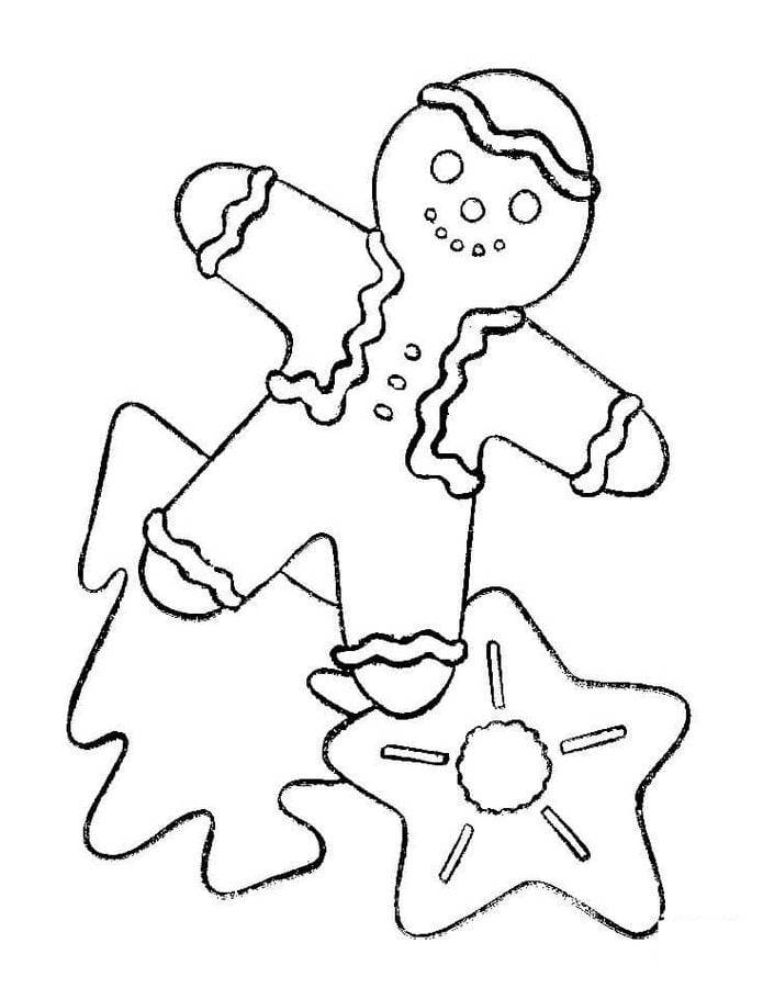 Dibujos para colorear: Pan de jengibre navideño imprimible, gratis ...