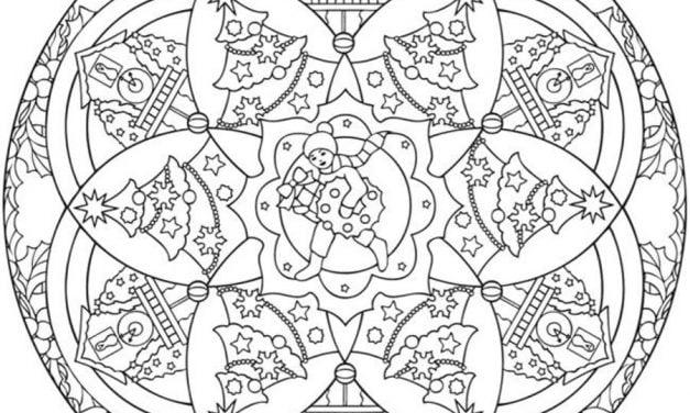 Coloring pages: Christmas Mandalas