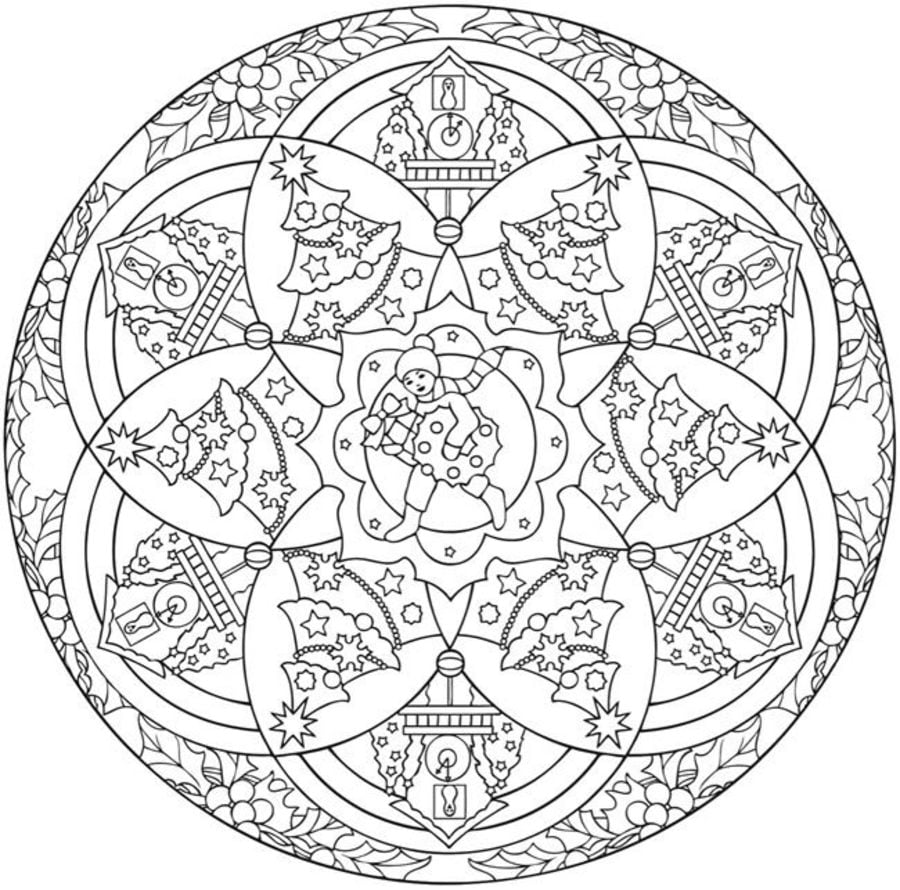 christmas mandalas christmas coloring pages holidays