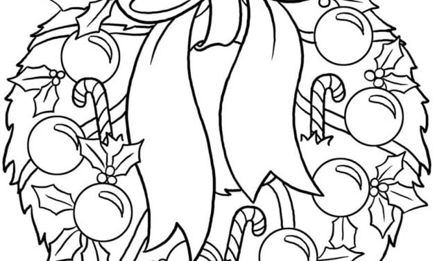 Coloring pages: Christmas Wreath