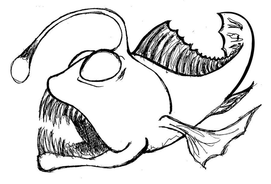 ausmalbilder tiefseefische zum ausdrucken kostenlos für