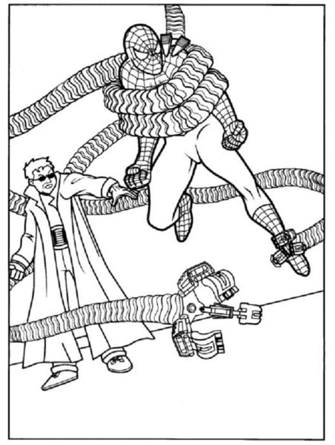mysterio spiderman coloring pages - photo#48