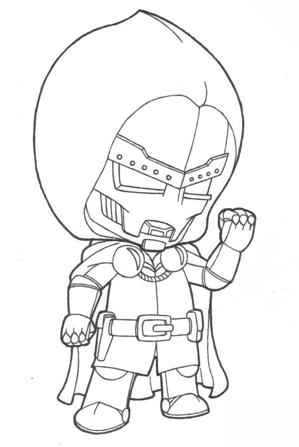 Marvel Deadpool Ausmalbilder Gratis: Ausmalbilder: Ausmalbilder: Doctor Doom Zum Ausdrucken