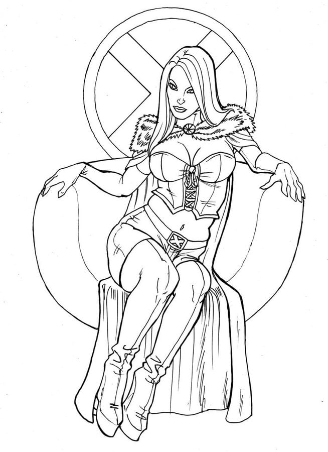 Coloring Pages Coloring Pages Emma Frost Printable For Kids Amp Adults Free