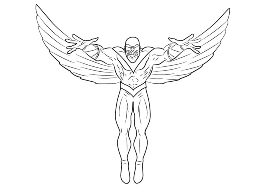 marvel falcon coloring pages - photo#13