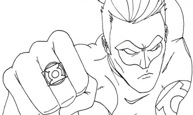 Coloring pages: Green Lantern