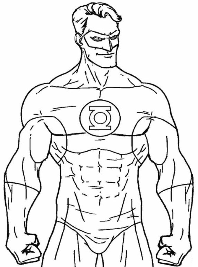 Free Coloring Pages Green Lantern Mindsandvinescom