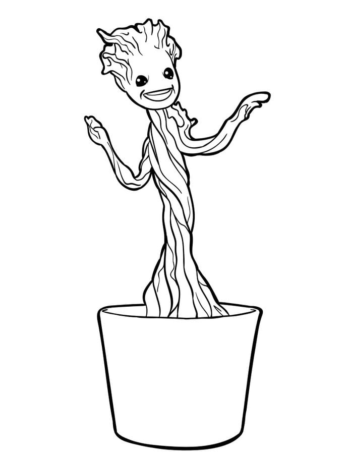 Groot - Free Coloring Pages