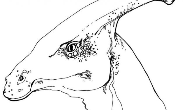 Coloring pages: Hadrosaurus