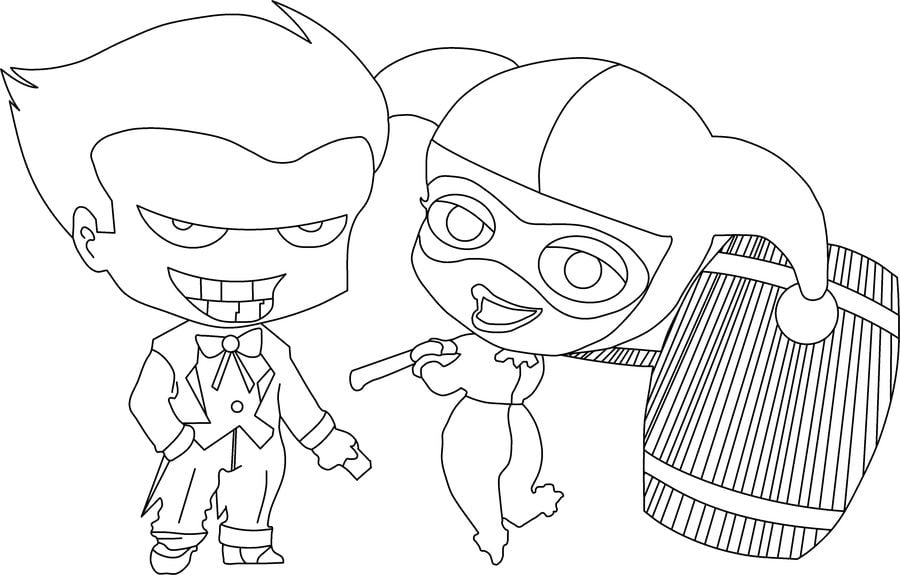Dibujos Para Colorear: Harley Quinn Imprimible, Gratis