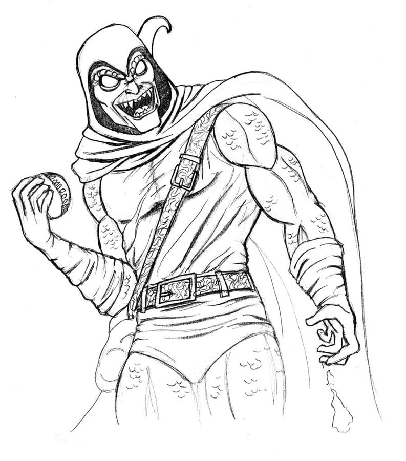 Hobgoblin coloring pages images for Green goblin coloring pages