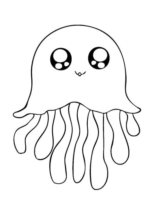 Dibujos para colorear: Medusas imprimible, gratis, para los niños y ...