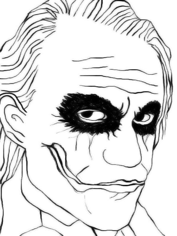 Dibujos para colorear: Joker imprimible, gratis, para los niños y ...