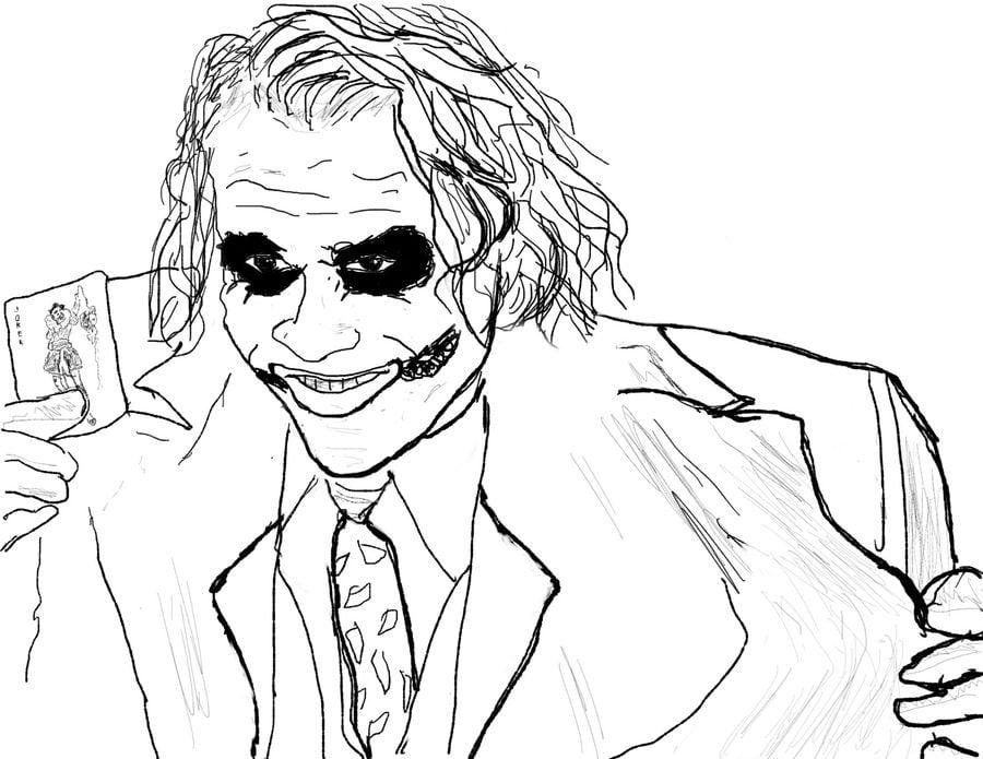 joker coloring pages comics dc comics - The Joker Coloring Pages