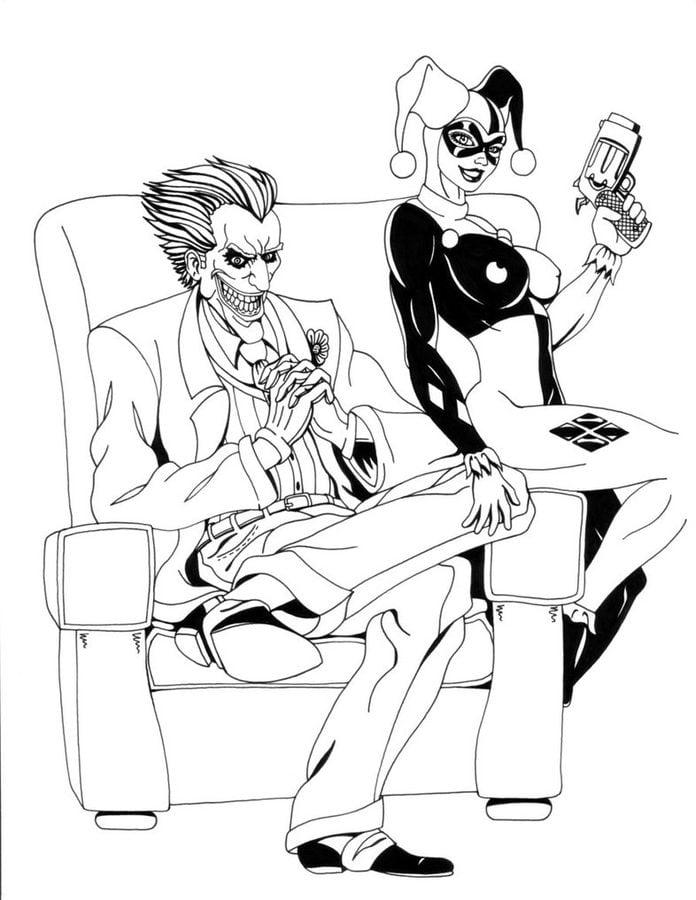 Ausmalbilder Ausmalbilder Joker Zum Ausdrucken Kostenlos Für