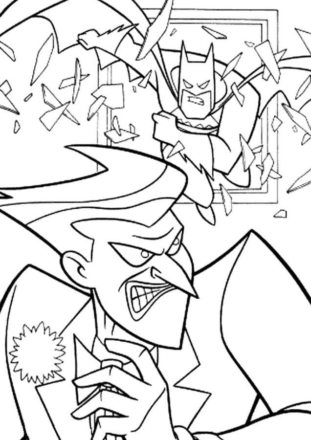 disegni da colorare  joker stampabile  gratuito  per