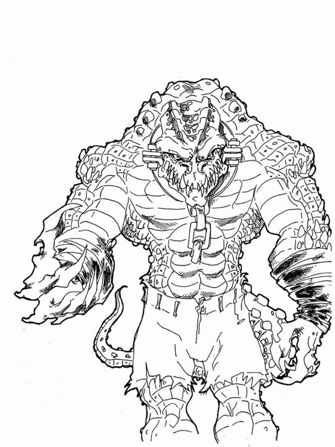 Coloring pages: Killer Croc, printable for kids & adults, free