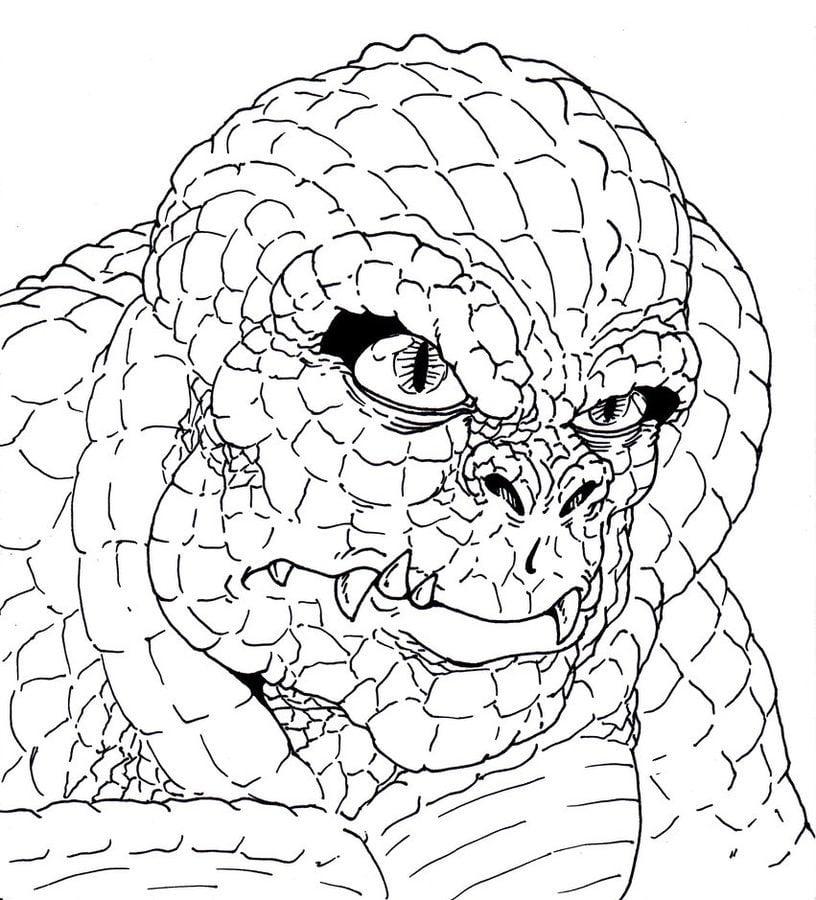 Coloriages killer croc imprimable gratuit pour les for Killer croc coloring pages