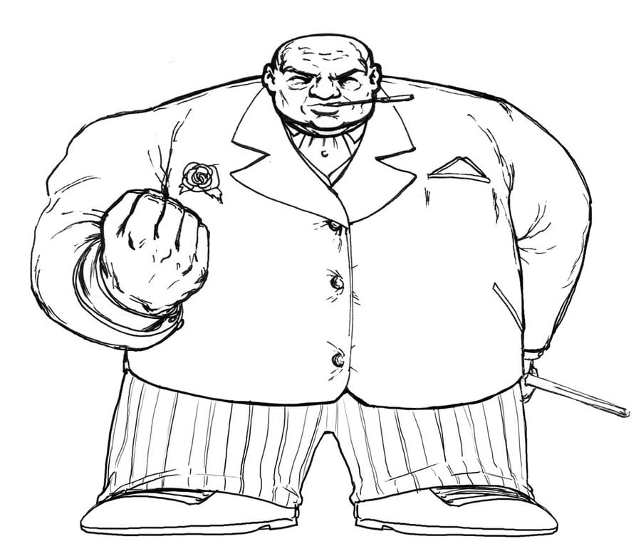 Coloring pages Kingpin Wilson