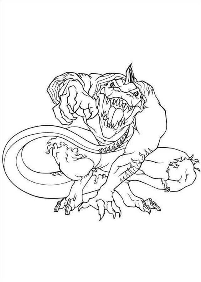 Dibujos para colorear: Lagarto / Curt Connors imprimible, gratis ...